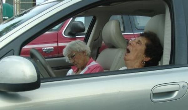 speeding old lady joke